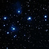 Messier M45 - Pleiades, Seven Sisters,Subaru, Matariki - 8/9/2012 (Processed cropped stack)