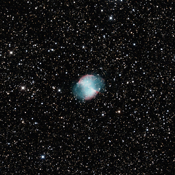 M27 Dumbbell Nebula - 25/08/2020 (Processed cropped stack)