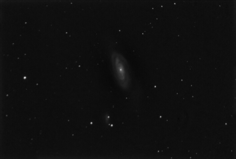 M90 - NGC4569 - Spiral Galaxy in Virgo - 21/4/2019 (Processed Mono stack)