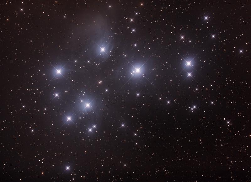 Messier M45 - Pleiades - Seven Sisters - Subaru - Matariki - 30/10/2016 (Processed cropped stack)