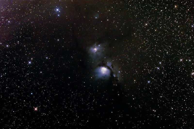 Messier M78 - NGC2068 - Reflection Nebula in Orion - 25/1/2015 (Processed stack)