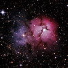 Messier M20 - NGC6514 - Gum 76 - Trifid Nebula - 11/5/2013 (Processed cropped stack)