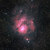 Messier M8 - NGC6523 - Gum 72 - Lagoon Nebula and Cluster - 26/8/2011 - Dark Sky site near Wagin (Processed stack)