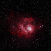 Messier M8 - NGC6523 & NGC6530 - Gum 72 - Lagoon Nebula and Cluster - 25/7/2012 (Processed stack)
