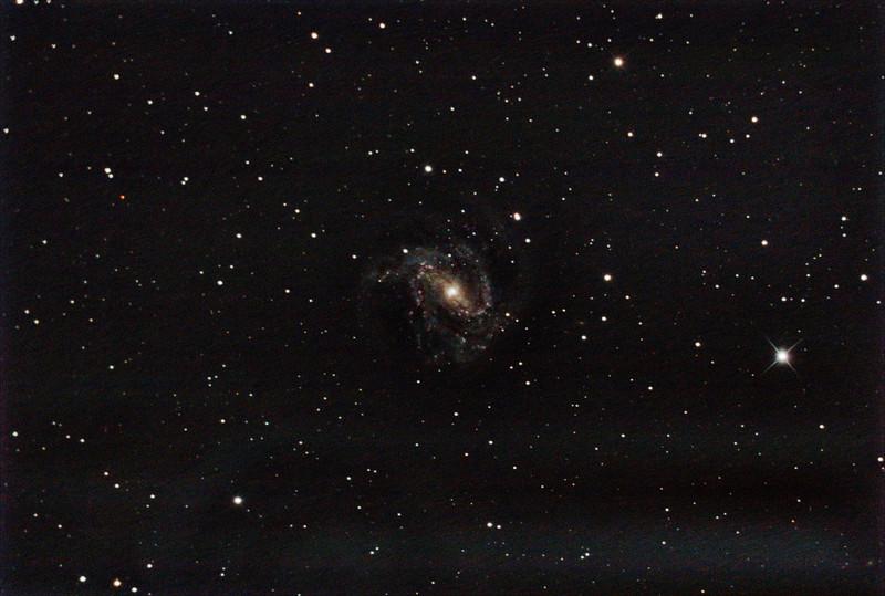 M83 - NGC5236 - Southern Pinwheel Galaxy - 29/1/2021 (Processed stack)