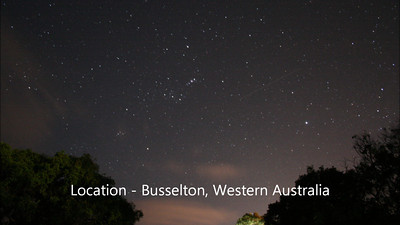 Constellation Orion Rising - Busselton - 18/12/2011 (Processed still images into video)