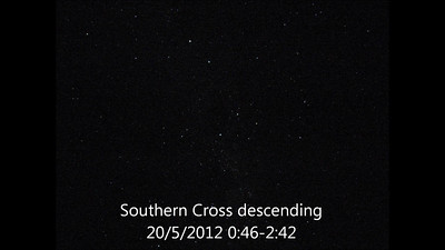 Southern Cross descending - 20/5/2012 (Still time-lapse sequence)