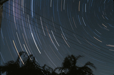 Star Trails - around the Constallation Crucis (The Southern Cross) 20/11/1979