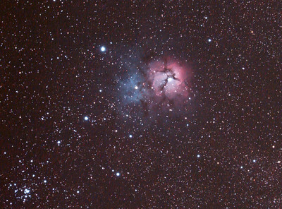 Messier M20 - NGC6514 - Trifid Nebula- 1/4/2011 (Processed Cropped stack)