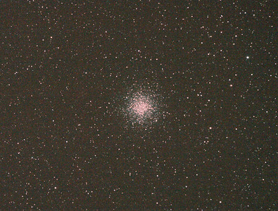 Messier M55 - NGC6809 - Globular Cluster - 29/5/2011 (Processed cropped stack)  DeepSkyStacker 3.3.2 Stacked 75% of 15 Images ISO 800 120 Sec, 32 DARK, 0 BIAS, 0 FLATS, Post-processed by Photoshop CS5  Telescope - Apogee OrthoStar LOMO 80/480 with Hotech SCA Field Flattener, Hutech IDAS LPS-P2 filter, Canon 400D DSLR, Ambient 12C. Mount - Skywatcher NEQ6 Pro. Guidescope - Orion ShortTube 80 with Star Shoot Auto Guider.