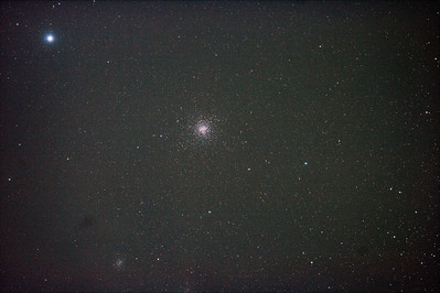 Messier M4 NGC6121 Globular Cluster in Scorpio (also NGC6144 Globular Cluster) 30/3/2011 (Processed stack)