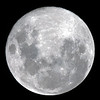 Near full Moon - 30/09/2012 (Processed and cropped single image)