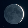 Near New Moon with Earthshine - 28/10/2011 (Processed and cropped single raw image)