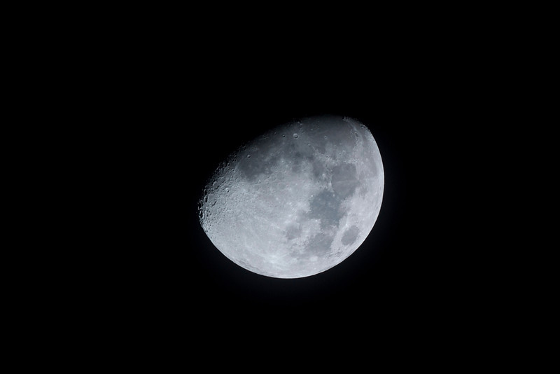 Waxing Gibbous Moon - 14/10/2013 (Processed image)
