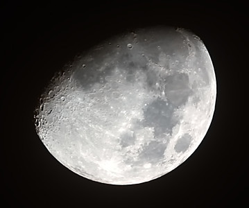 Waxing Gibbous Moon - 14/10/2013 (Processed cropped stack)