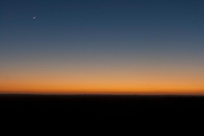 The Moon in pre-dawn