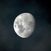 Waxing Gibbous Moon in the Clouds - 15/10/2013 (Processed cropped image)