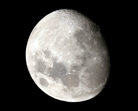 First Light for the Apogee 80 - The Gibbous Moon (11 days old) - 19/09/2010 (Processed)