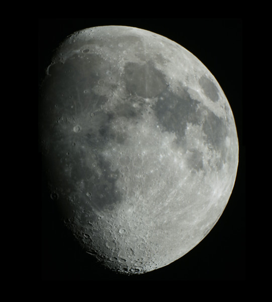 Waxing Gibbous Moon - 27/6/2015 (Processed 2-Image stacks & mosaic)