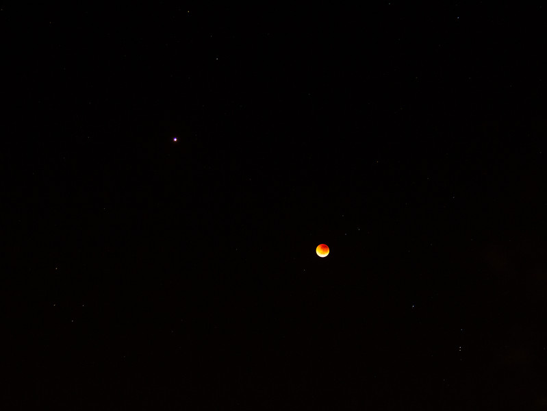 Total Lunar Eclipse at Mars Opposition - 28/7/2018 (Cropped processed image)