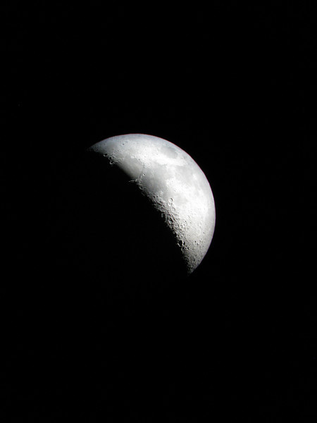 Moon near 1st Quarter (6 days old) - 23rd November 2009