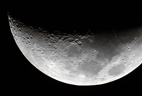 Waxing Crescent Moon - 10/10/2013 (Processed cropped stack)