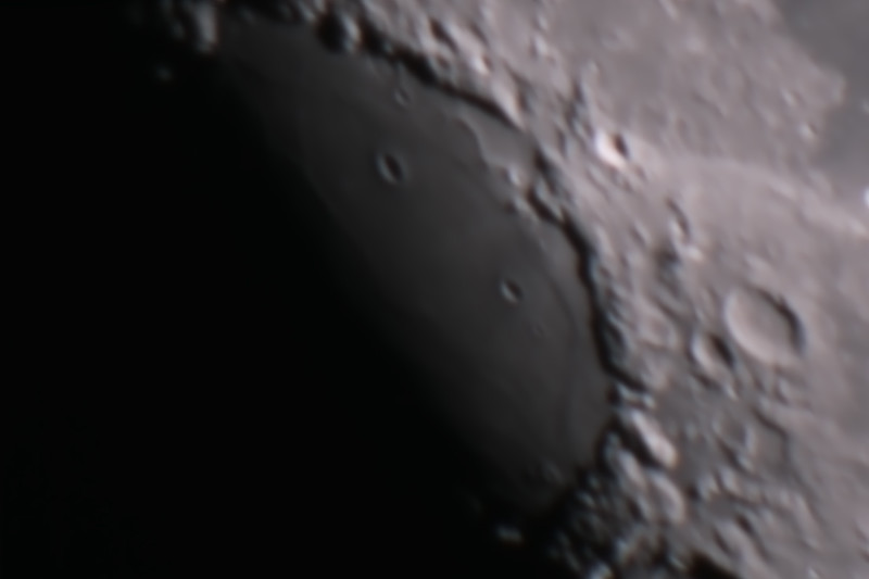 Gibbous Moon - Mare Crisium - 6/2/2015 (Processed stack)