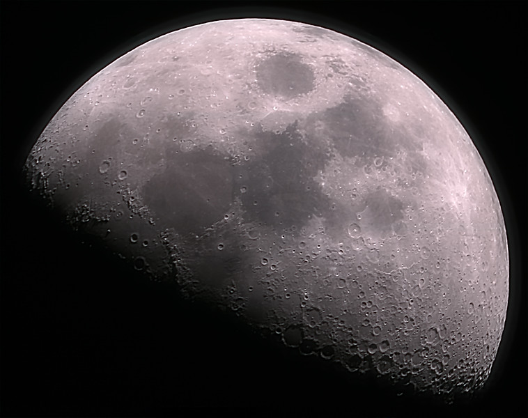 First Quarter Moon - 3 Image f/2.84 Moasic - 24/6/2020 (Processed stack)