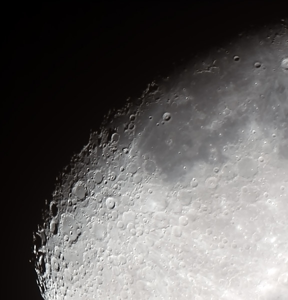 Waxing Gibbous Moon  (Craters and Mare) - 15/10/2013 (Processed stack)