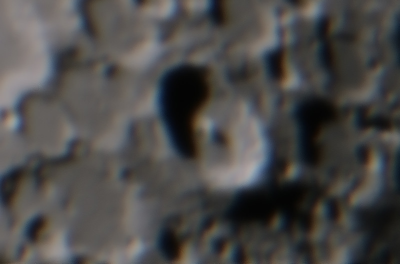 Moon - Tycho crater - 29/3/2015 (Processed stack)