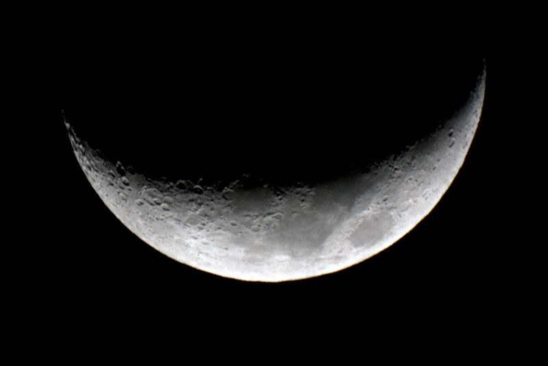 Moon - Waxing Crescent - 9/10/2013 (Processed stack)