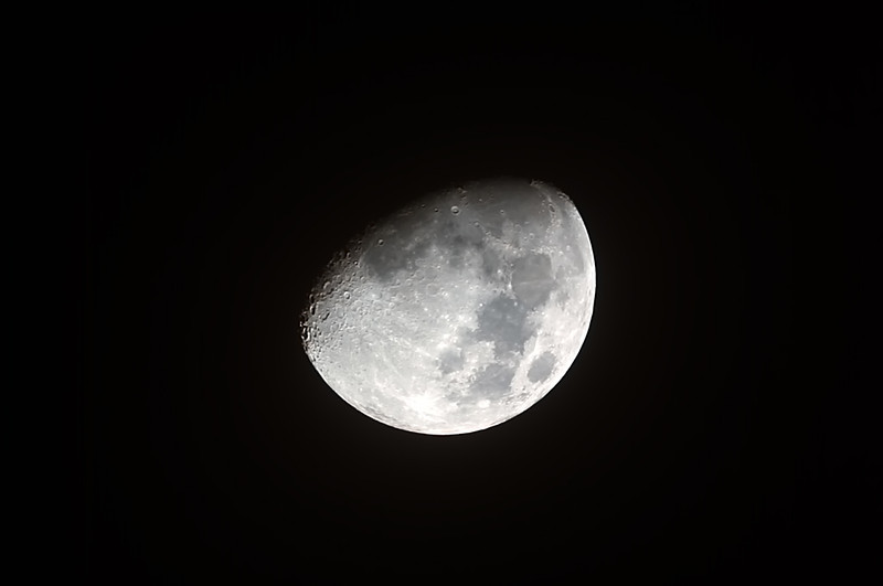 Waxing Gibbous Moon - 14/10/2013 (Processed stack)