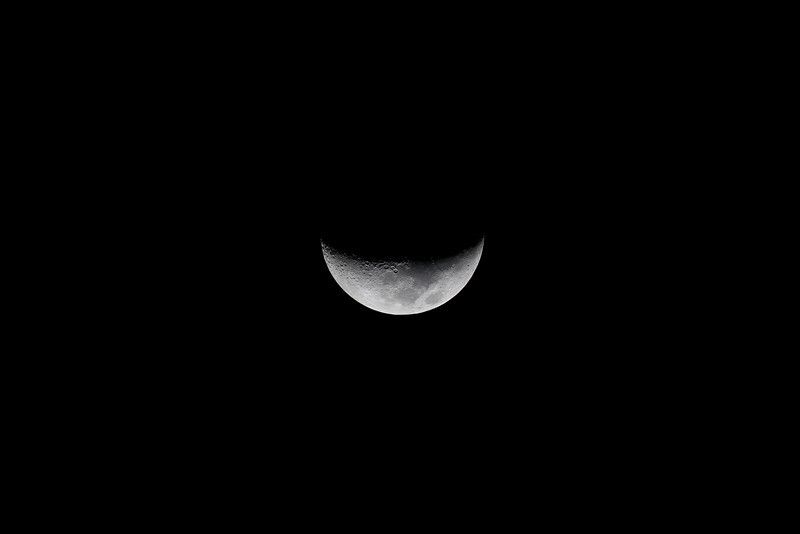 Waxing Crescent Moon - 10/10/2013 (Processed image)