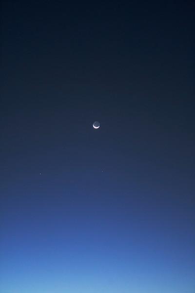 Lunar conjunction with Venus, Saturn, Mercury and Zubenelgenubi - 7/10/2013 (Processed image)