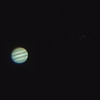 Jupiter with Europa and Callisto - 22/3/2015 (Processed cropped stack)