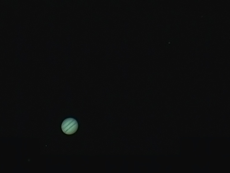Jupiter with Europa, Io & Ganymede, Callisto - 29/3/2015 (Processed stack)