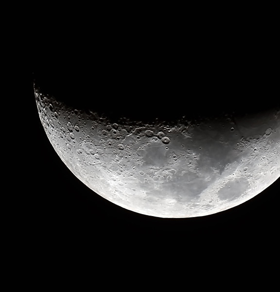 Waxing Crescent Moon - 10/10/2013 (Processed stack)