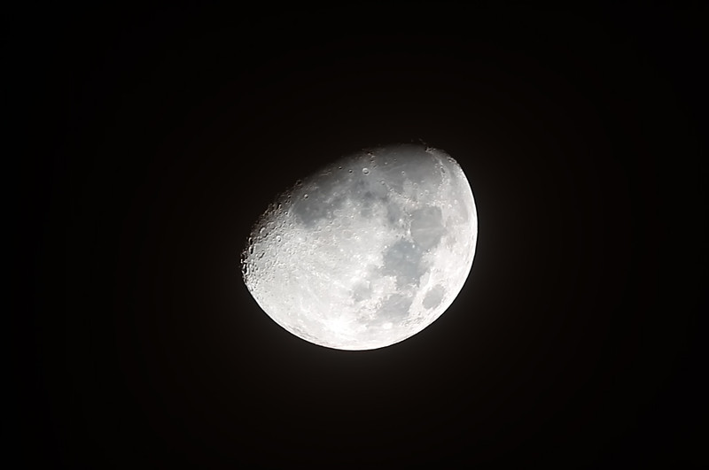 Waxing Gibbous Moon - 15/10/2013 (Processed stack)