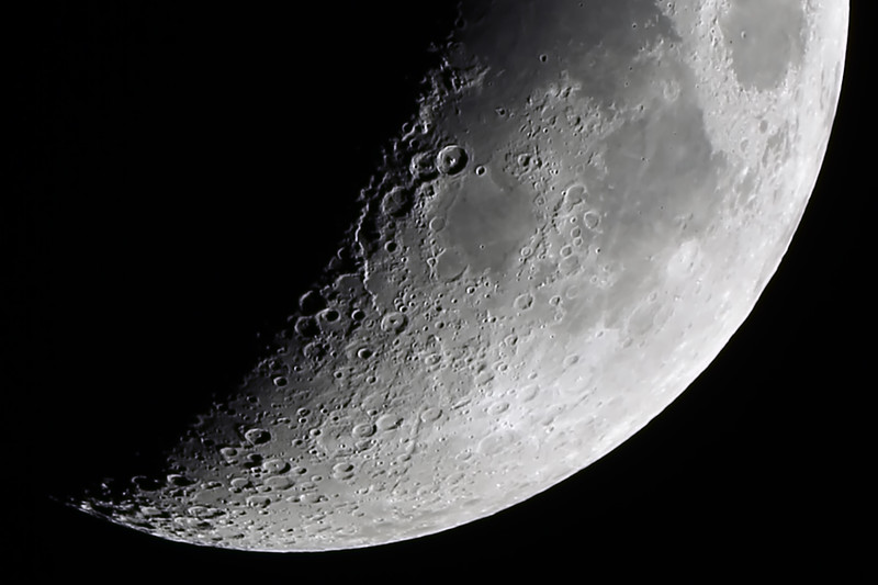 Moon near First quarter - 27/12/2014 (Processed stack)