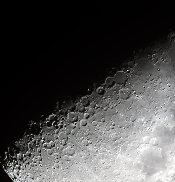First Quarter Moon 'Terminator' - 12/10/2013 (Processed stack)