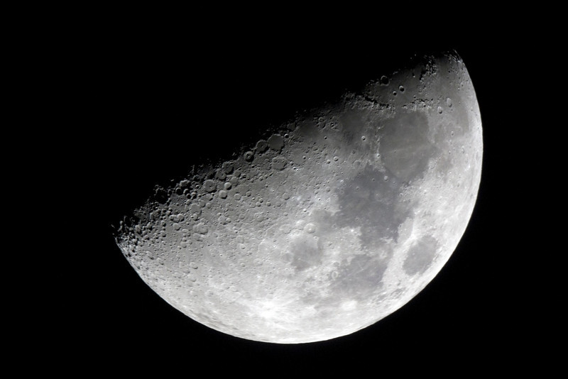 First Quarter Moon - 12/10/2103 (Processed single image)