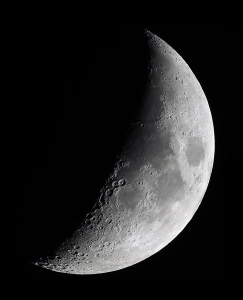 Moon near First quarter - 27/12/2014 (Processed composite stack)