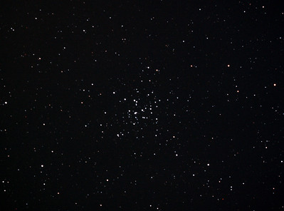 Messier M36 - NGC1960 - Open Cluster in Auriga - 2/2/2013 (Processed cropped stack)  DeepSkyStacker 3.3.2 Stacked 85% of 6 Images ISO 800 120 Sec, 68 DARK, 75 BIAS, 0 FLATS, Post-processed with Adobe Photoshop CS5  Telescope - Bintel BT200 f/4.0 Newtonian (borrowed from Stephen Boyd) with Baader MPCC Coma Corrector, Hutech LPS-P2 filter, Canon 40D DSLR field 64' x 95', Ambient 25C.  EQMOD EQASCOM with Ascom 6 for mount countrol. Backyard EOS 2.09 for Image acquisition. Mount - Skywatcher NEQ6 Pro. Guidescope - Orion ShortTube 80 with Starlight Xpress Superstar (mono) CCD guide camera and Stark Labs PHD auto guiding software.