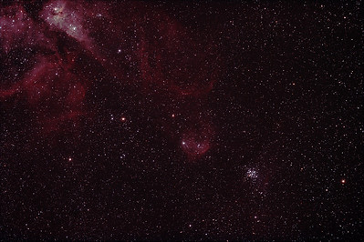 Caldwell 92 - NGC3293 - The Little Jewel Box and IC2599 Nebula in context to the Eta Carina Nebula - 4/3/2012