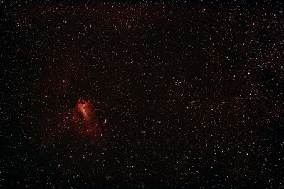 Messier M17 - NGC6618 - Gum 81 - Eagle or Swan Nebula & M18 - NGC6613 Open Cluster - 23/5/2012 (Reprocessed stack)