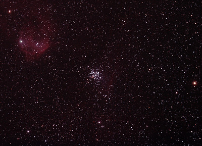 NGC3293 The Little Jewel Box and nebula IC2599 - 4/3/2012