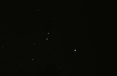 Jupiter and Mars near Regulus 20/11/1979