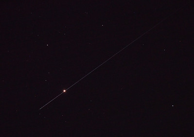 Shot Through the Heart - Antares - Alpha Scorpii - with Satellite trail - 3/11/2010 (Processed JPEG)