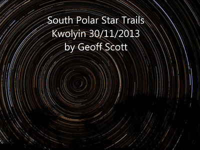 South Polar Star Trails - 30/11/2013 (Processed stack)