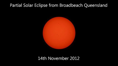 Partial Solar Eclipse from Broadbeach Queensland - 14/11/2012 (Still time-lapse sequence)